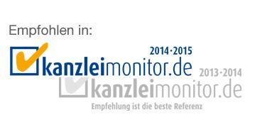 Rayermann Legal München empfohlen in Kanzleimonitor 2013 2015